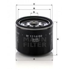 Масляный фильтр MANN W 1114/80
