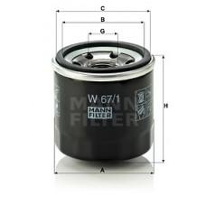 Масляный фильтр MANN W 67/1 = W 67/80