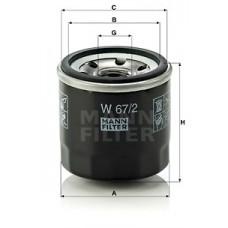 Масляный фильтр MANN W 67/2 = W 67/81