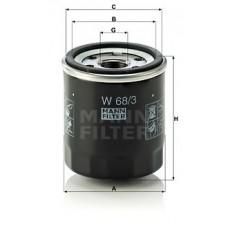 Масляный фильтр MANN W 68/3 = W 68/80 = W 68/1
