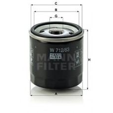 Масляный фильтр MANN W 712/83 = W 711/80