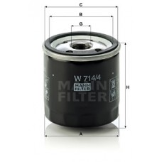 Масляный фильтр MANN W 714/4=W 719/26=W 724/4
