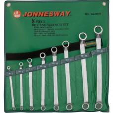 Набор ключей накидных Jonnesway 6-22 мм 75°, 8 предметов